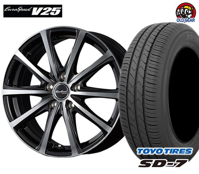 マルカ ユーロスピードV25 タイヤ・ホイール 新品 4本セット トーヨー SD7 165/65R13 パーツ バランス調整済み!