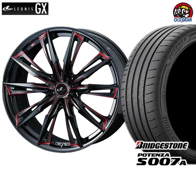 ウエッズ レオニスGX タイヤ・ホイール 新品 4本セット ブリヂストン ポテンザS007A F245/35R20・R275/30R20 パーツ バランス調整済み!