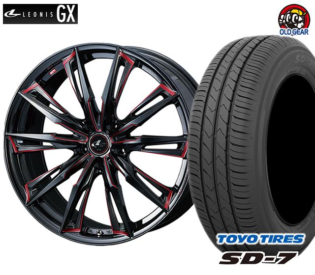 ウエッズ レオニスGX タイヤ・ホイール 新品 4本セット トーヨー SD7 215/45R17 パーツ バランス調整済み!