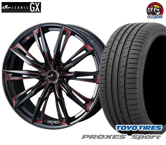 ウエッズ レオニスGX タイヤ・ホイール 新品 4本セット トーヨー プロクセス・スポーツ 215/50R17 パーツ バランス調整済み!