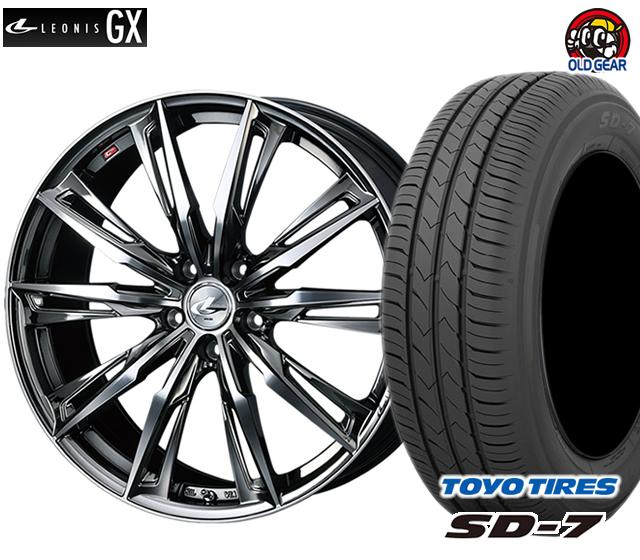 ウエッズ レオニスGX タイヤ・ホイール 新品 4本セット トーヨー SD7 215/50R17 パーツ バランス調整済み!