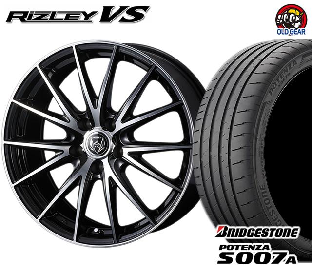 ウェッズ ライツレーVS タイヤ・ホイール 新品 4本セット ブリヂストン ポテンザS007A 245/40R18 パーツ バランス調整済み!