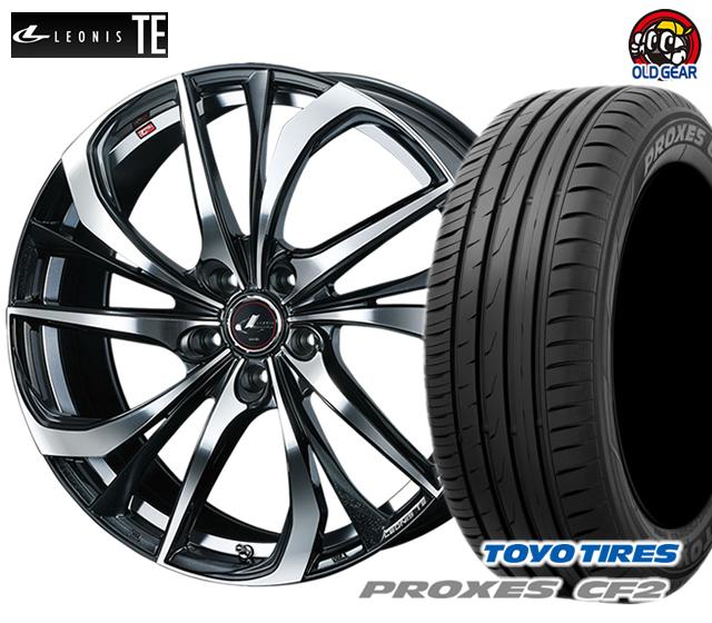 ウエッズ レオニスTE タイヤ・ホイール 新品 4本セット トーヨー プロクセス CF2 205/45R17 パーツ バランス調整済み!