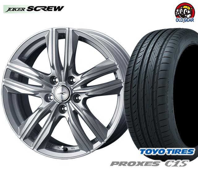 ウェッズ ジョーカースクリュー タイヤ・ホイール 新品 4本セット トーヨー プロクセスC1S 225/50R17 パーツ バランス調整済み!