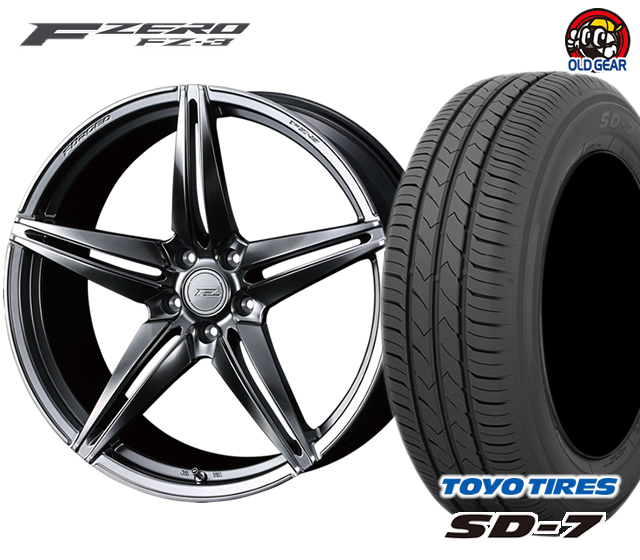ウェッズ F ZERO FZ-3 エフゼロ タイヤ・ホイール 新品 4本セット トーヨー SD7 225/45R18 パーツ バランス調整済み!