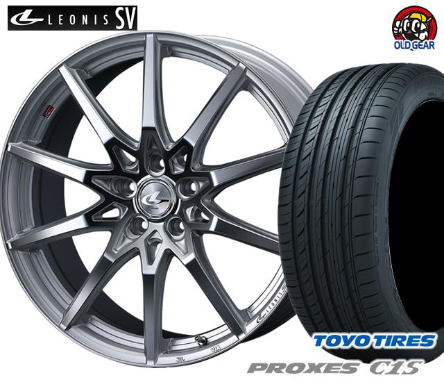 ウエッズ レオニスSV タイヤ・ホイール 新品 4本セット トーヨー プロクセスC1S 215/50R17 パーツ バランス調整済み!