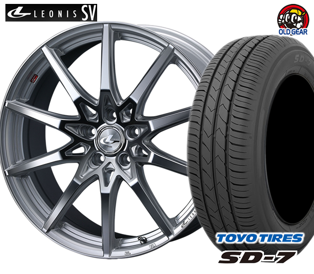 ウエッズ レオニスSV タイヤ・ホイール 新品 4本セット トーヨー SD7 175/60R16 パーツ バランス調整済み!