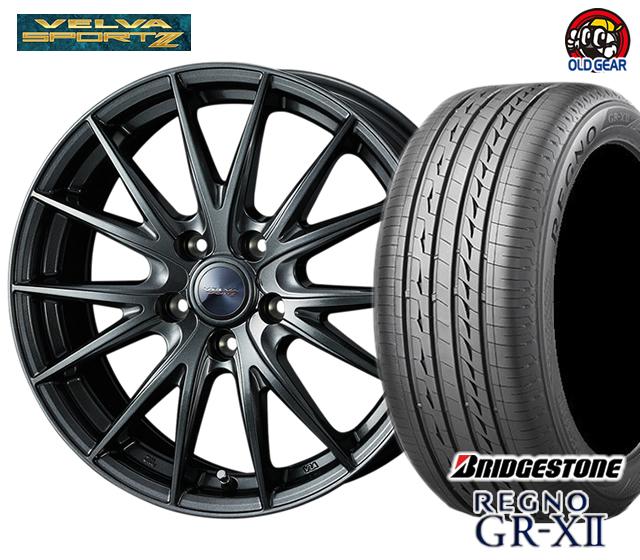 ウエッズ ヴェルヴァスポルト2 タイヤ・ホイール 新品 4本セット ブリヂストン レグノ GR-X2 185/60R15 パーツ バランス調整済み!