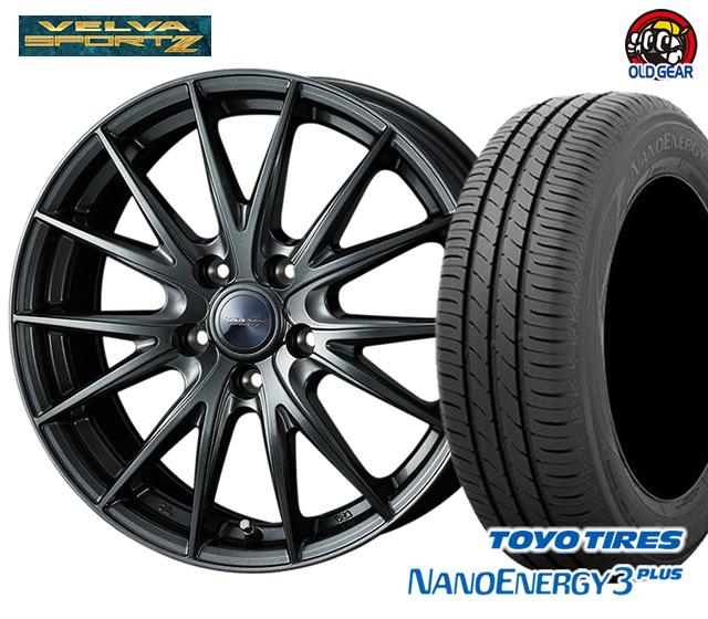 ウエッズ ヴェルヴァスポルト2 タイヤ・ホイール 新品 4本セット トーヨー ナノエナジー3プラス 225/50R17 パーツ バランス調整済み!