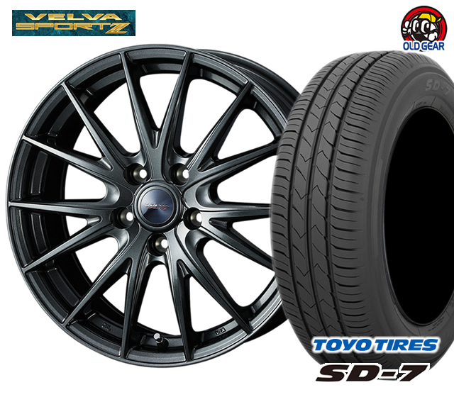 ウエッズ ヴェルヴァスポルト2 タイヤ・ホイール 新品 4本セット トーヨー SD7 175/65R14 パーツ バランス調整済み!