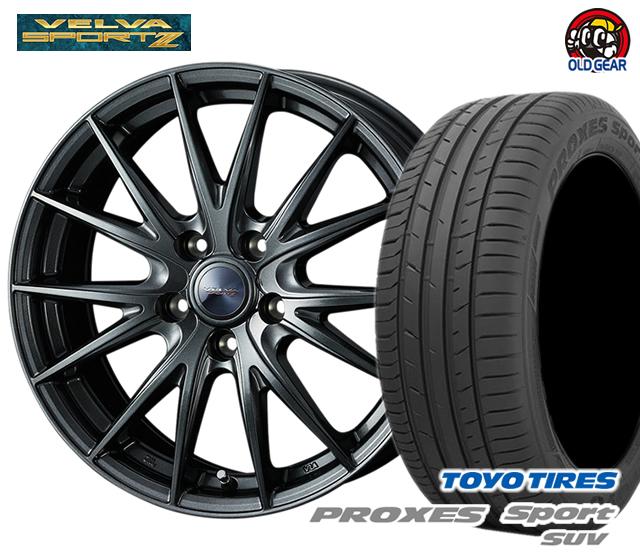 ウエッズ ヴェルヴァスポルト2 タイヤ・ホイール 新品 4本セット トーヨー プロクセススポーツSUV 235/60R18 パーツ バランス調整済み!