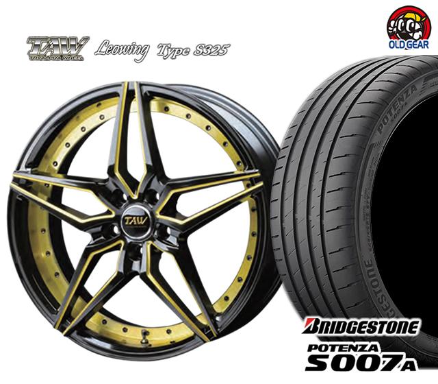 トライアルファ レオウィング タイプ S325 タイヤ・ホイール 新品 4本セット ブリヂストン ポテンザ S007A F245/35R19・R275/30R19 パーツ バランス調整済み!