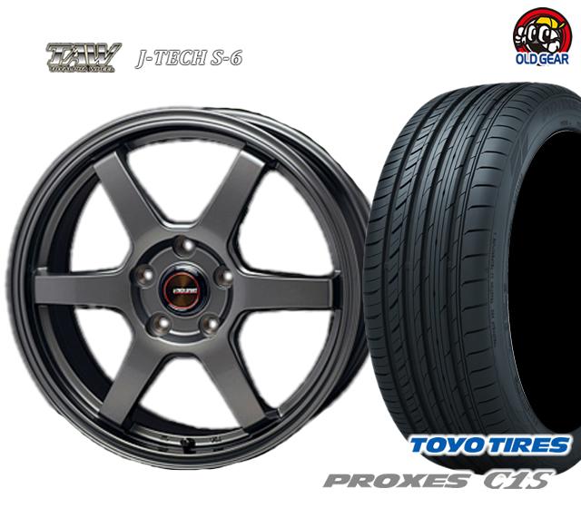 トライアルファ J-TECH S-6 ジェイテック S-6 タイヤ・ホイール 新品 4本セット トーヨータイヤ プロクセス C1S 205/65R15 パーツ バランス調整済み!