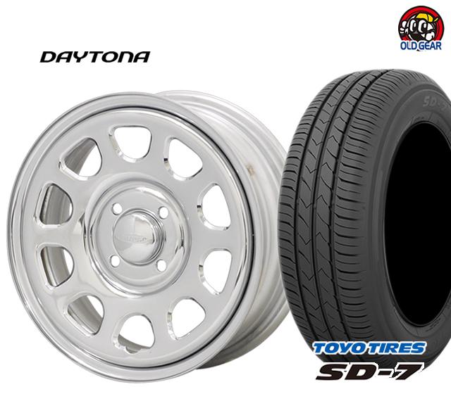 DAYTONA デイトナ タイヤ・ホイール 新品 4本セット トーヨータイヤ SD7 155/55R14 パーツ バランス調整済み!