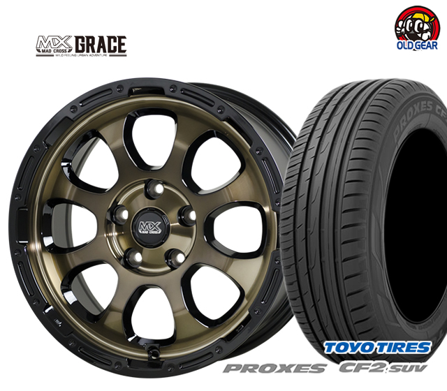 ホットスタッフ マッドクロス グレイス タイヤ・ホイール 新品 4本セット トーヨータイヤ プロクセス CF2 SUV 215/65R16 パーツ バランス調整済み!
