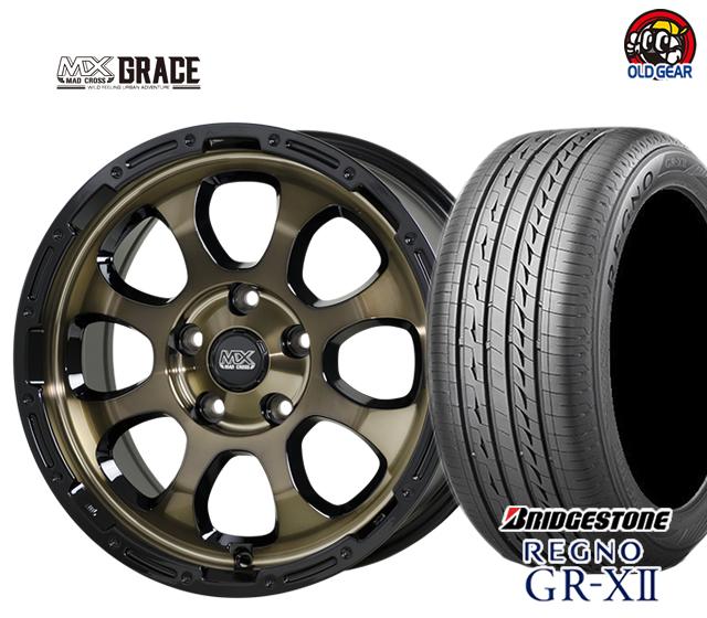 期間限定送料無料 ホットスタッフ マッドクロス グレイス タイヤ 送料無料 激安 お買い得 キ゛フト ホイール 新品 4本セット ブリヂストン 215 パーツ 60R16 人気ブレゼント GR-X2 レグノ バランス調整済み