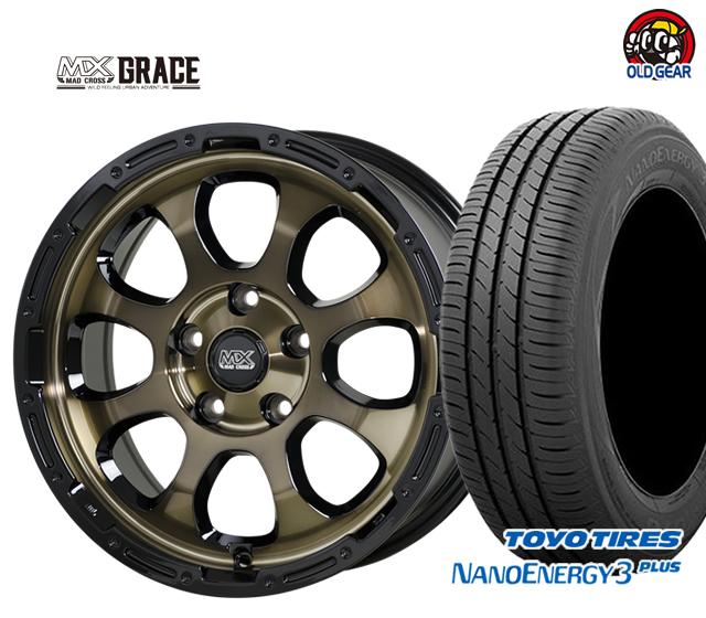 ホットスタッフ マッドクロス グレイス タイヤ・ホイール 新品 4本セット トーヨータイヤ ナノエナジー 3 プラス 195/60R16 パーツ バランス調整済み!