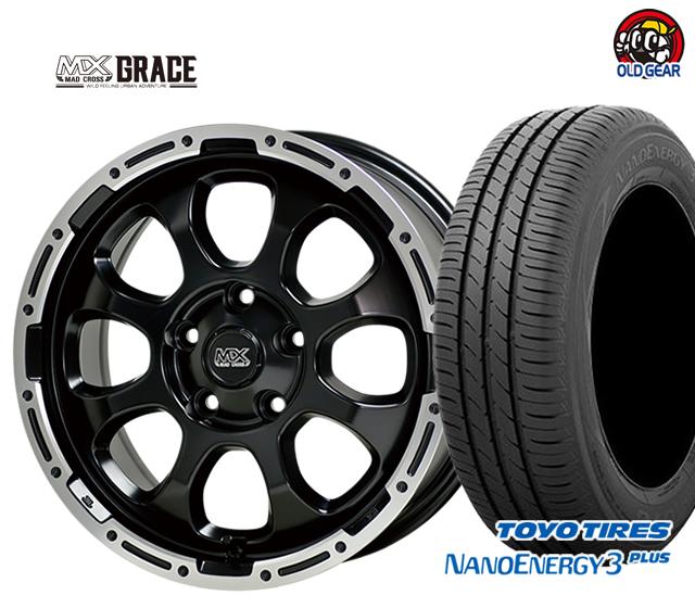 ホットスタッフ マッドクロス グレイス タイヤ・ホイール 新品 4本セット トーヨータイヤ ナノエナジー 3 プラス 205/60R16 パーツ バランス調整済み!