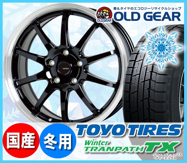 トーヨータイヤ ウィンタートランパスTX 185/65R15 スタッドレス タイヤ・ホイール 新品 4本セット ホットスタッフ Gスピード P-04 パーツ バランス調整済み!