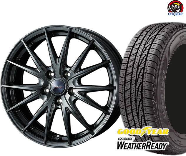 グッドイヤー アシュアランス ウェザーレディ 225/65R17 スタッドレス タイヤ・ホイール 新品 4本セット ウエッズ ヴェルヴァスポルト2 パーツ バランス調整済み!
