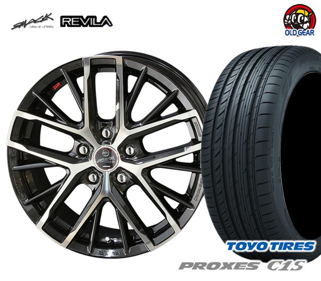 共豊 スマック レヴィラ 塩害軽減対策設計 タイヤ・ホイール 新品 4本セット トーヨータイヤ プロクセス C1S 215/55R17 パーツ バランス調整済み!