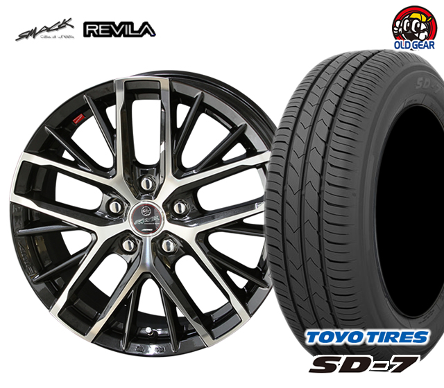 共豊 スマック レヴィラ 塩害軽減対策設計 タイヤ・ホイール 新品 4本セット トーヨータイヤ SD7 155/55R14 パーツ バランス調整済み!