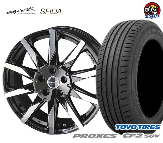 共豊 スマック スフィーダ タイヤ・ホイール 新品 4本セット トーヨータイヤ プロクセス CF2 SUV 215/60R17 パーツ バランス調整済み!