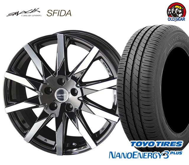 ナノエナジー タイヤ・ホイール スフィーダ 4本セット スマック 共豊 3 パーツ トーヨータイヤ 新品 205/55R16 バランス調整済み! プラス