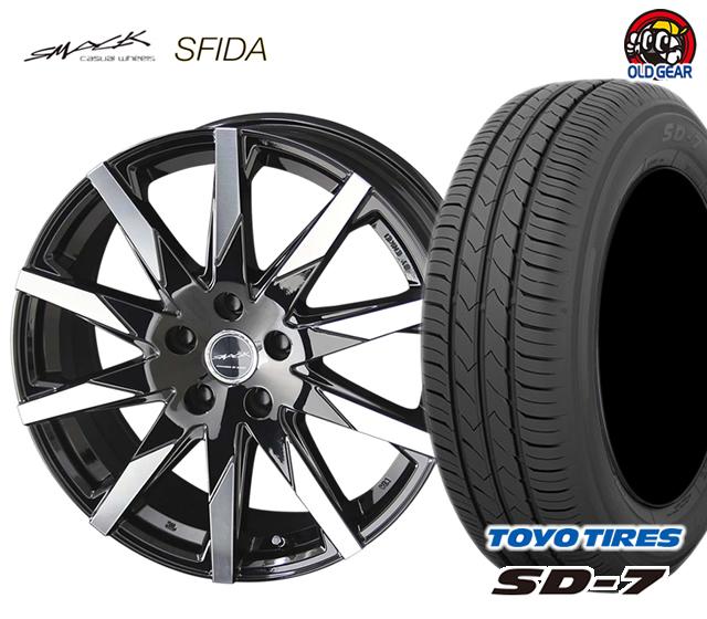 共豊 スマック スフィーダ タイヤ・ホイール 新品 4本セット トーヨータイヤ SD7 175/65R15 パーツ バランス調整済み!