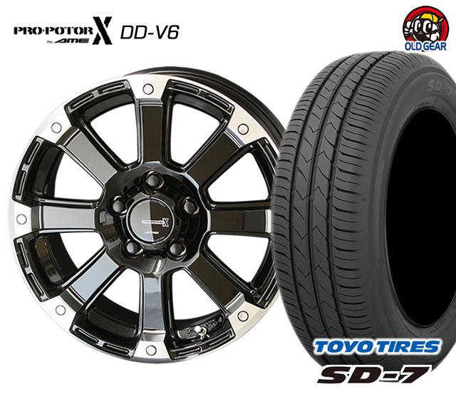 共豊 PPX DD-V6 タイヤ・ホイール 新品 4本セット トーヨータイヤ SD7 205/60R16 パーツ バランス調整済み!