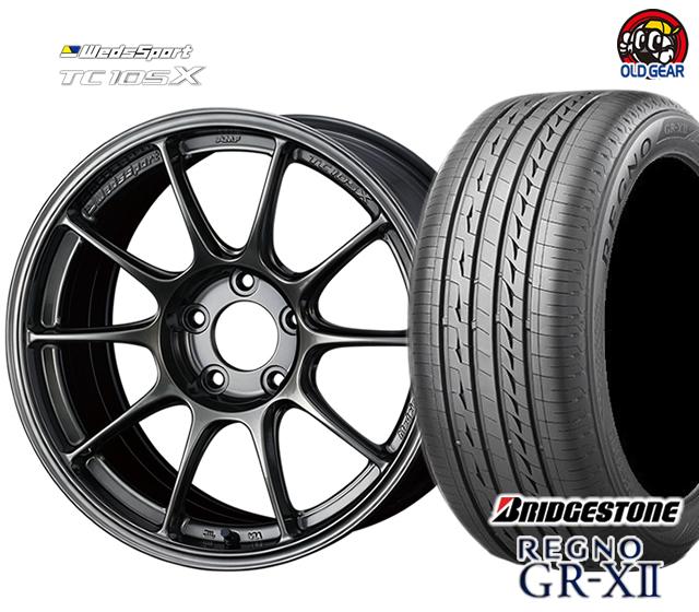 ウェッズ ウェッズスポーツ TC105X タイヤ・ホイール 新品 4本セット ブリヂストン レグノ GR-X2 225/50R18 パーツ バランス調整済み!
