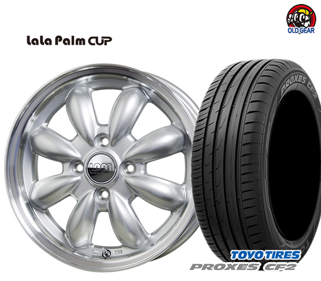 ホットスタッフ ララパーム カップ タイヤ・ホイール 新品 4本セット トーヨータイヤ プロクセス CF2 195/60R15 パーツ バランス調整済み!