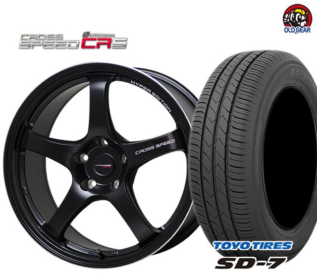 ホットスタッフ クロススピード ハイパーエディション CR5 タイヤ・ホイール 新品 4本セット トーヨータイヤ SD7 215/50R17 パーツ バランス調整済み!
