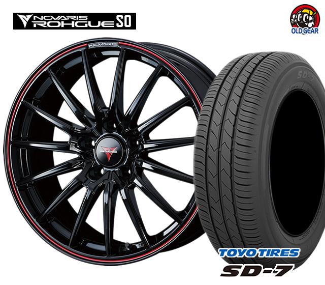 ウェッズ ノヴァリス・ローグ SO タイヤ・ホイール 新品 4本セット トーヨー SD7 165/55R15 パーツ バランス調整済み!