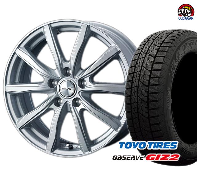 トーヨータイヤ TOYO GIZ2 オブザーブ ギズ2 215/45R18 スタッドレス タイヤ・ホイール 新品 4本セット ウェッズ ジョーカーシェイク パーツ バランス調整済み!