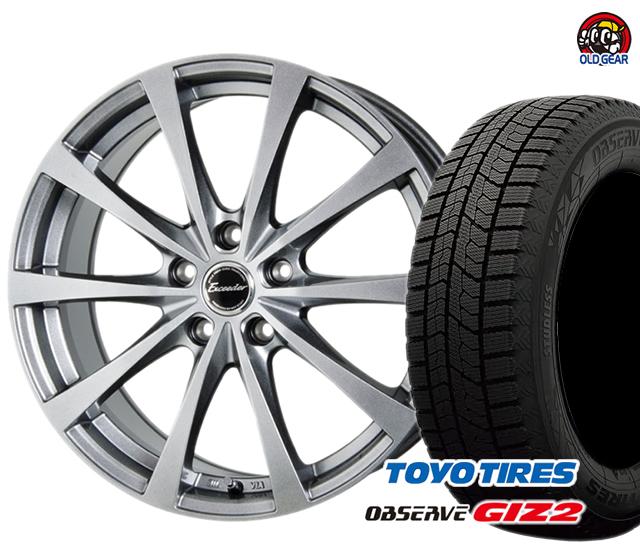 トーヨータイヤ GIZ2 ギズ2 225/55R17 スタッドレス タイヤ・ホイール 新品 4本セット ホットスタッフ エクシーダー E03 パーツ バランス調整済み!