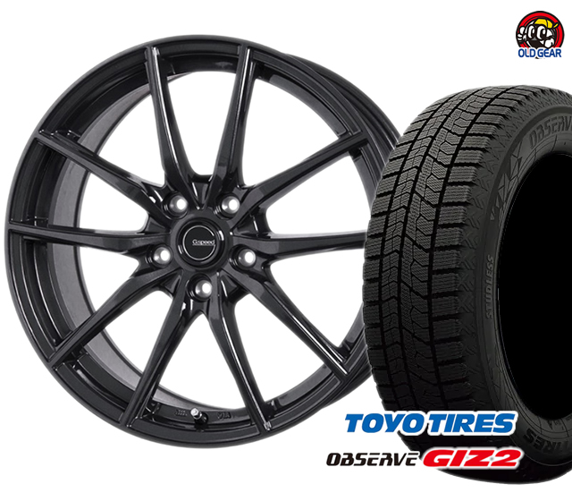 トーヨータイヤ ガリットGIZ2 ギズ2 215/45R18 スタッドレス タイヤ・ホイール 新品 4本セット ホットスタッフ Gスピード G-02 パーツ バランス調整済み!
