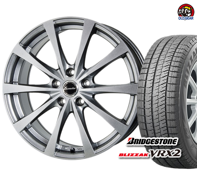 ブリヂストン ブリザック VRX2 155/65R13 スタッドレス タイヤ・ホイール 新品 4本セット ホットスタッフ エクシーダー E03 パーツ バランス調整済み!