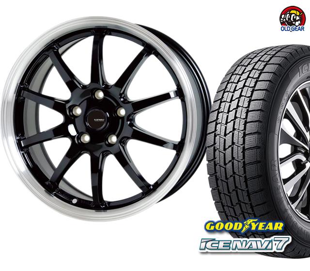 グッドイヤー アイスナビ7 245/40R18 スタッドレス タイヤ・ホイール 新品 4本セット ホットスタッフ Gスピード P-04 パーツ バランス調整済み!