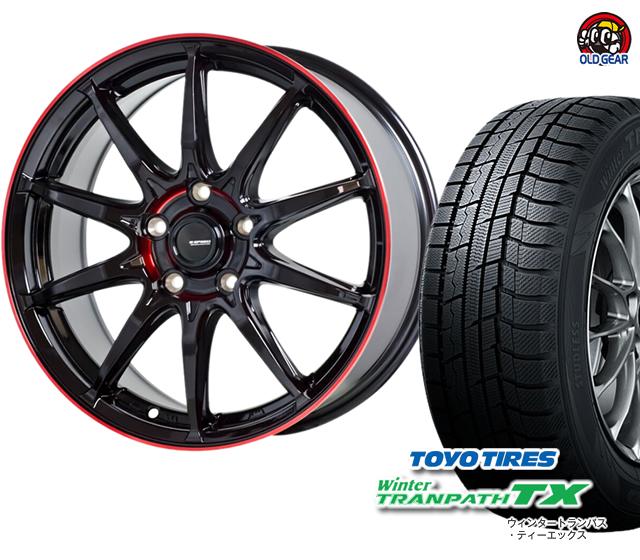 トーヨータイヤ ウィンタートランパスTX 165/65R14 スタッドレス タイヤ・ホイール 新品 4本セット ホットスタッフ Gスピード P-05R パーツ バランス調整済み!
