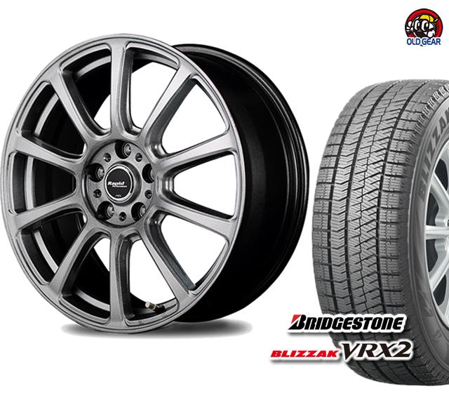 新品 バランス調整済み! パーツ ブリザック マルカサービス 165/70R14 タイヤ・ホイール ユーロスピード VRX2 4本セット スタッドレス ブリヂストン F10