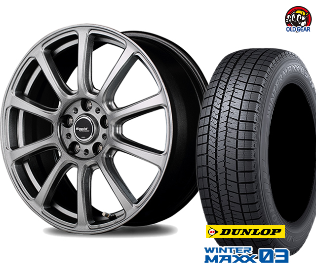 4本セット ユーロスピード ウインターマックス03 WM03 スタッドレス F10 マルカサービス バランス調整済み! 新品 パーツ ダンロップ 165/70R14 タイヤ・ホイール