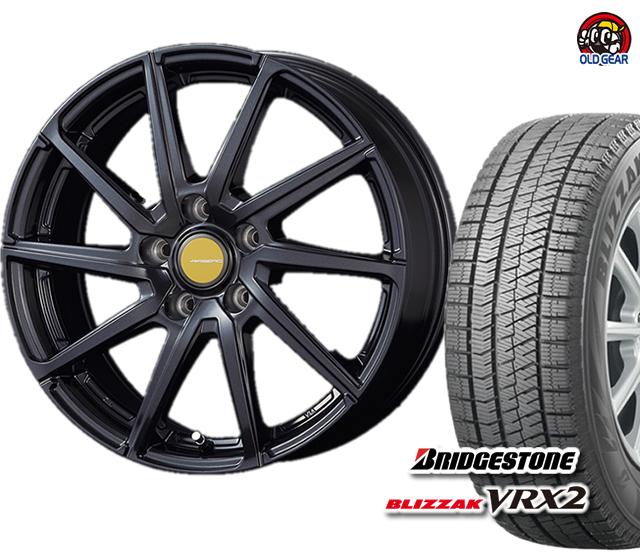 新品 ブリザック ブリヂストン タイヤ・ホイール パーツ バランス調整済み! エアベルグ 155/65R13 4本セット ローレン VRX2 スタッドレス