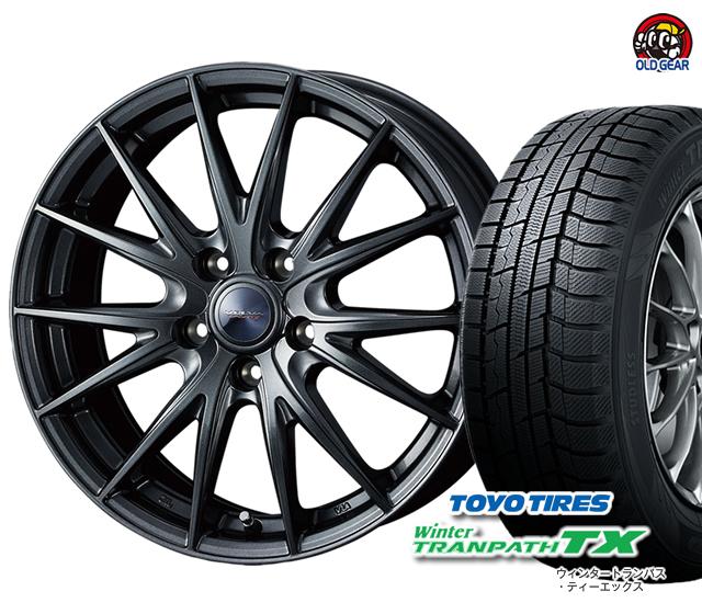 新品 トーヨータイヤ スタッドレス パーツ 4本セット ヴェルヴァスポルト2 タイヤ・ホイール バランス調整済み! 155/65R14 ウィンタートランパスTX