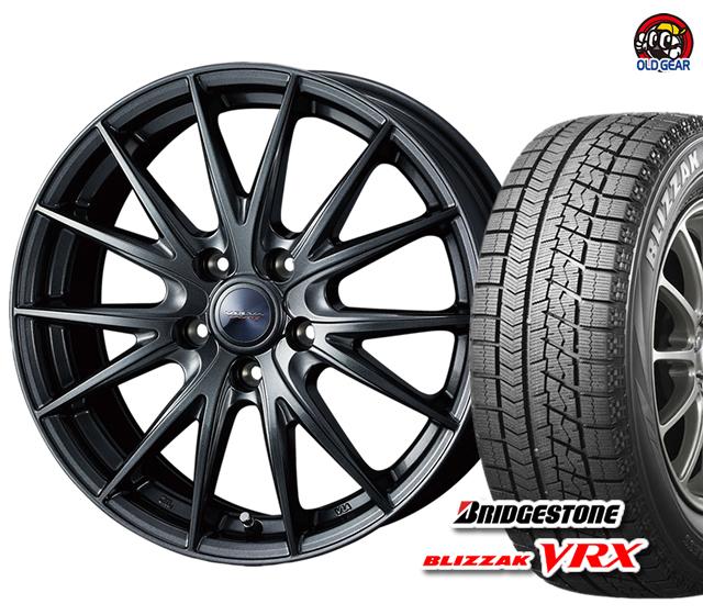 パーツ ブリヂストン ヴェルヴァスポルト2 新品 4本セット バランス調整済み! スタッドレス タイヤ・ホイール 165/55R15 VRX ブリザック