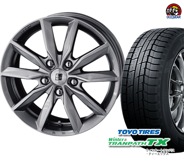 ザイン バランス調整済み! トーヨータイヤ スタッドレス 新品 パーツ ウィンタートランパスTX タイヤ・ホイール 4本セット SV 155/65R14