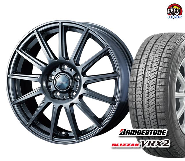 期間限定送料無料 評判 ブリヂストン ブリザック VRX2 205 55R17 スタッドレス タイヤ 4本セット ホイール バランス調整済み パーツ 保障 ヴェルヴァイゴール ウェッズ 新品