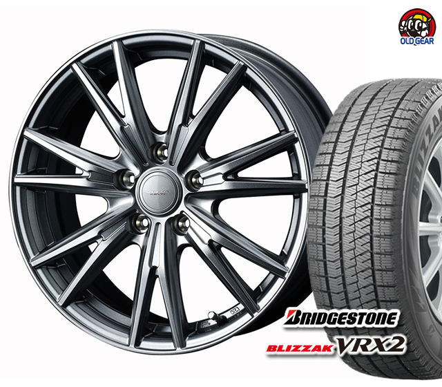 期間限定送料無料 ブリヂストン ブリザック VRX2 205 55R17 激安通販 スタッドレス タイヤ 4本セット バランス調整済み 並行輸入品 新品 パーツ ヴェルヴァケヴィン ホイール