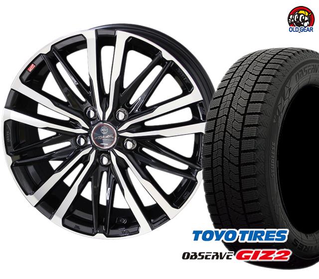 トーヨータイヤ ガリットGIZ2 ギズ2 175/60R16 スタッドレス タイヤ・ホイール 新品 4本セット スマック クレスト パーツ バランス調整済み!