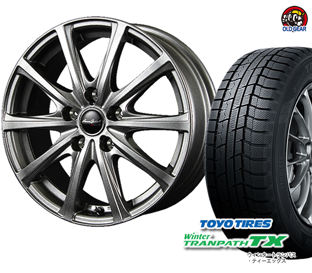 トーヨータイヤ ウィンタートランパスTX 215/55R17 スタッドレス タイヤ・ホイール 新品 4本セット ユーロスピードV25 パーツ バランス調整済み!